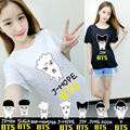 KPOP Korean Fashion BTS Bangtan Boys 2016 Album Young Forever Q Cartoon Boneca Cotton Tshirt K-POP T Shirts T-shirt