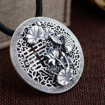 S925 pure silver pendant Women happy character personality style Every year more than the new