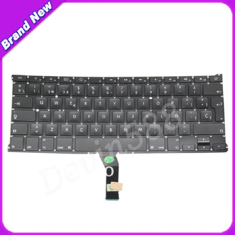 NEW 13.3 SP Spanish keyboard For Macbook Air A1369 MC503 MC504 2010 keyboard ,one year warranty ! new topcase with tr turkish turkey keyboard for macbook air 11 6 a1465 2013 2015 years