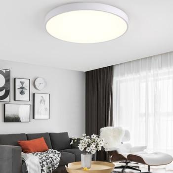 Luz de techo LED Lámpara moderna Sala de estar Accesorio de iluminación Dormitorio Cocina Montaje en superficie Panel al ras Control remoto 1