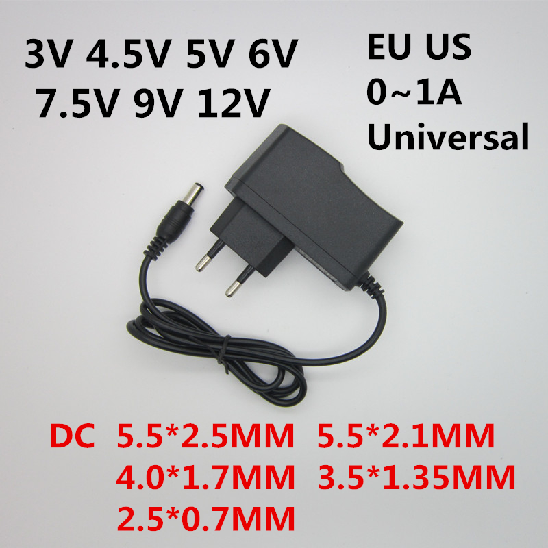 AC 110-240V DC 3V 4.5V 5V 6V 7.5V 9V 12V for 1A LED light strips power adapter 12V 1A AC / DC Converter Power Adapter professional gemological for distinguishing real dimaond selector ii