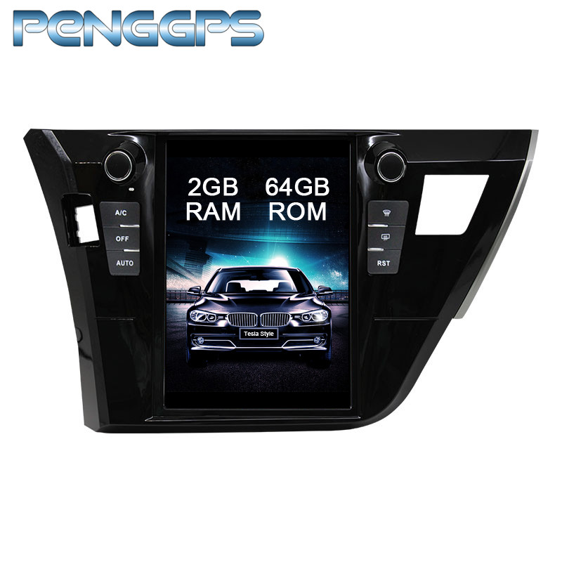 Tesla Style Android 7 1 Car GPS Navigation DVD Player for Toyota Corolla 2013 2016 IPS