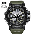 Nova Militar Relógios para Homens Dual Time Relógio De Pulso Digital LED relógio dos homens relógio de Pulso Masculino Relógio S Choque LED montre homme WS1617