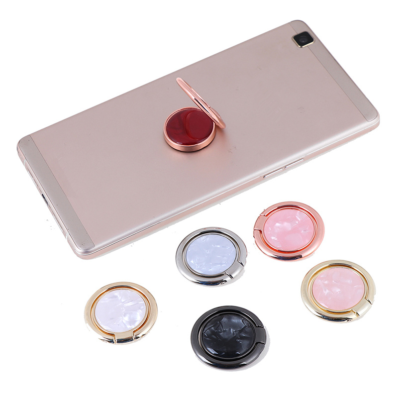 Round Metal Finger Ring Smartphone Stand Holder Mobile Phone Holder Stand For IPhone Huawei All Smart Phone Sticker