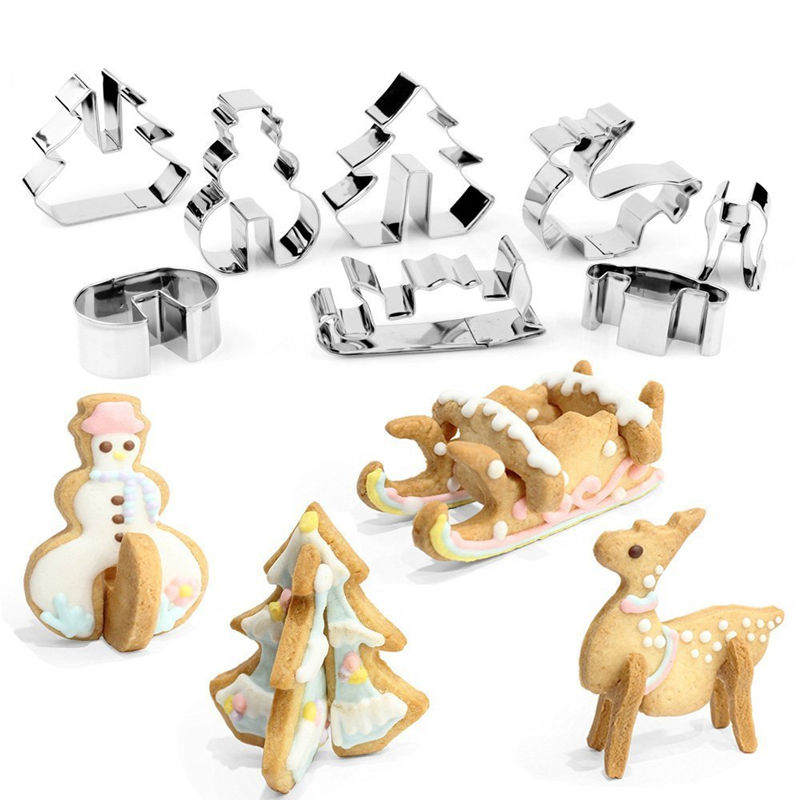 Wedding & Anniversary Bands Provided New!3d Christmas Santa Deer Sled Biscuit Mould 304 Stainless Steel Cookie Cuter 5 Pieces Cookie Cutter With 3 Pieces Stencil