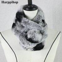 Sciarpe di pelliccia femminile versione Coreana di autunno e inverno moda Varietà Sciarpe capelli Del Coniglio Del Rex tre tubo scarlet piccoli doni