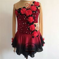 2016 Custom Ice Skating Dresses For Girls New Brand Vogue Figure Skating Competition Dress For Women DR3047