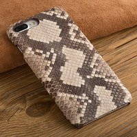 Natural Python Skin Back Case For Samsung Galaxy S7 / S7 Edge Top Luxury Real Snake Genuine Leather Rear Cover Moblie Phone Bag
