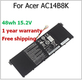 48wh 15.2V Battery AC14B8K for Acer for Aspire E3-111 E5-771G V3-371 TravelMate P276 V3-111 V3-111P AC14B8K laptop battery