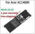 AC14B8K 48wh 15.2 V Bateria para Acer Aspire E3-111 E5-771G V3-371 TravelMate P276 V3-111 V3-111P AC14B8K bateria do portátil