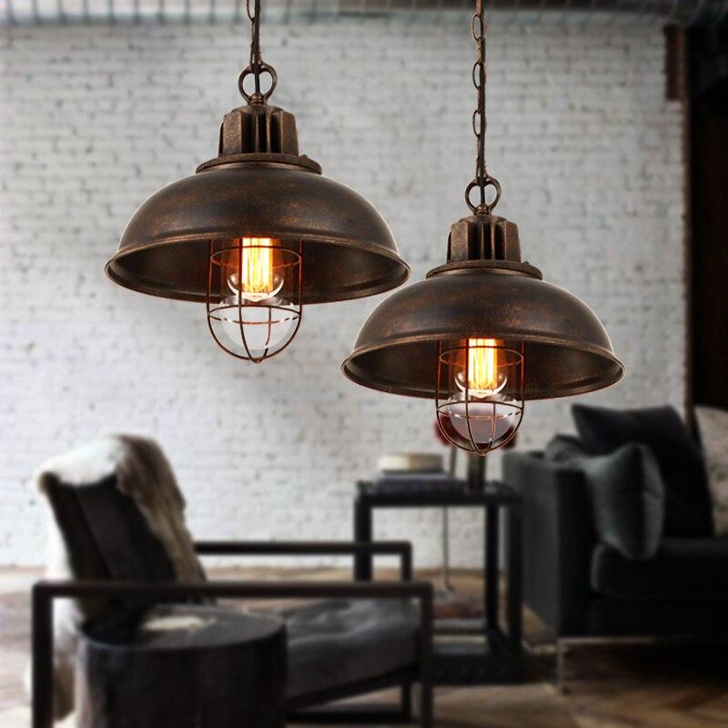 2019 Mode Amerikaanse Dorp Industriële Retro Schaduw Single-hoofd Hanger Licht Ijzer Bar Tafel Restaurant Persoonlijkheid Loft Hanglamp Speciale Kopen