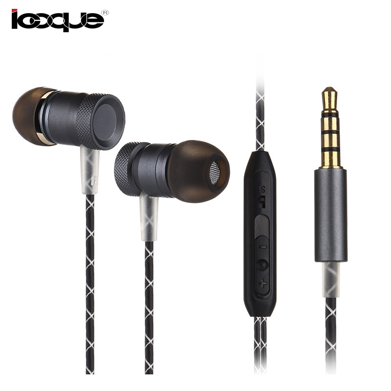 Metal Earphone Stereo Music with Mic Gold-Plated Plug Wired Earbuds In-ear Bass Headset  for Huawei Oneplus 5 iPhone 6s Phone PC teamyo portable in ear earphone stereo music handsfree headset with mic volume control for samsung galaxy s2 s3 s4 note3 n7100