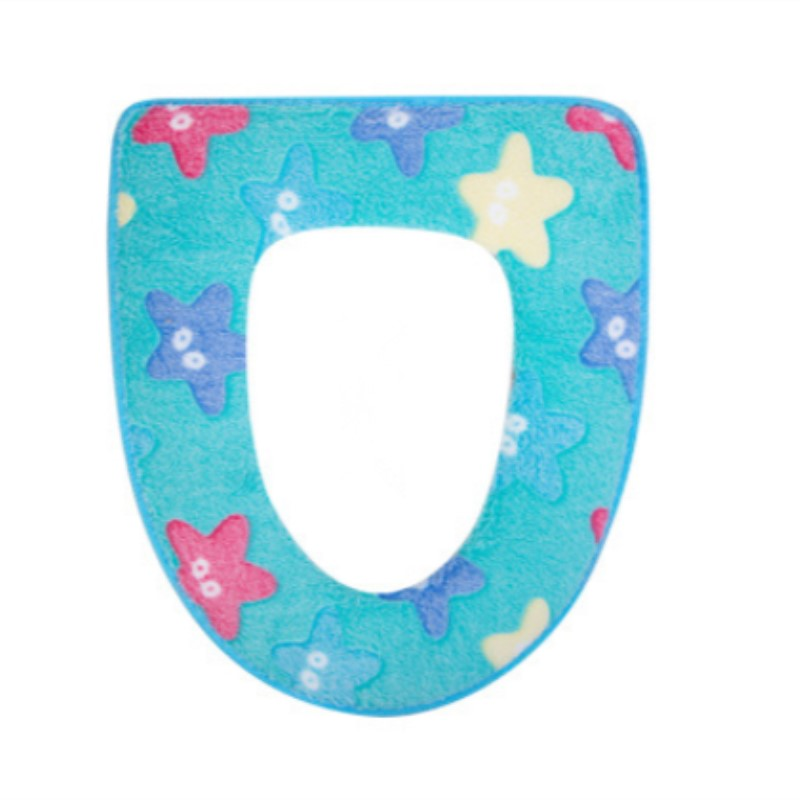 Warm Toilet Seat Starfish Pattern Thicken Toilet Seat Cover Soft Comfortable Anti-bacteria Seat Overcoat Toilet Case