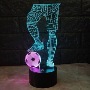 Image 5 - 3D ฟุตบอล TOUCH โคมไฟตั้งโต๊ะ 7 สีเปลี่ยนโคมไฟตั้งโต๊ะ USB Powered โคมไฟกลางคืนฟุตบอลไฟ LED Decor ของขวัญห้องนอน