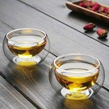 50 мл двухслойная стеклянная чашка кофе кунг-фу чайные чашки стеклянная посуда фруктовый сок кофейники пивной набор прозрачный маленький ручной