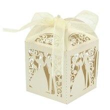 Pudełka dla gości Mr & Mrs Wedding 50 szt