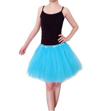 15 Colors Women Ballet Fairy Tutu Skirt Veil Swan Lake Ballet Costume Contest Girls Short Skirts Solod Color(China)