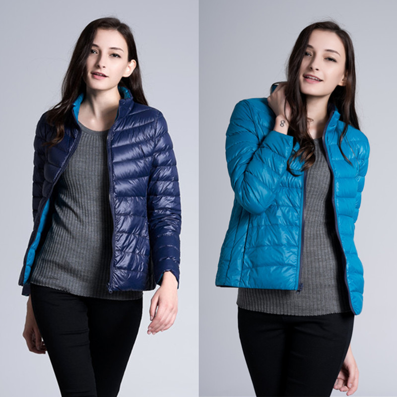 Woxingwosu light and thin down jacket  women's double faced jackets