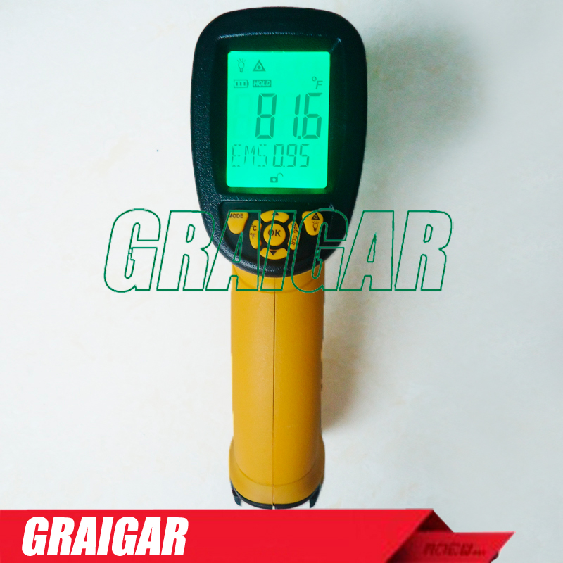 High Temperature Infrared Thermometer Smart Sensor AS872D -50~1150C(-58-2102F) non contact digital IR gun infrared thermometer