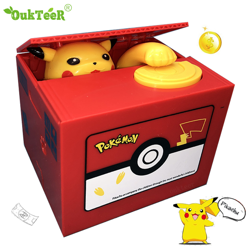 Cat Panda Automatic Stealing Coin Piggy Bank Money Saving Box Coins Storage Box For USD EURO