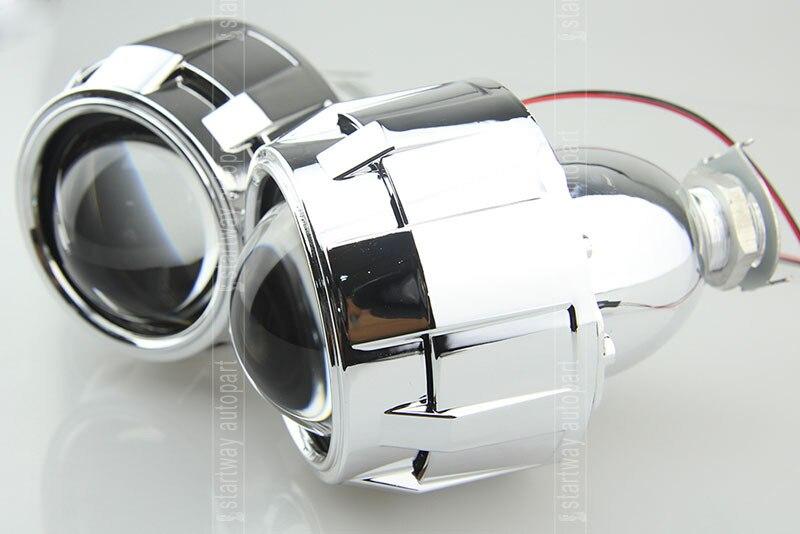 ФОТО 2.5 inch bixenon lens projector HID Xenon bi-xenon lens h1 lamp cover hid bixenon lens projector headlight
