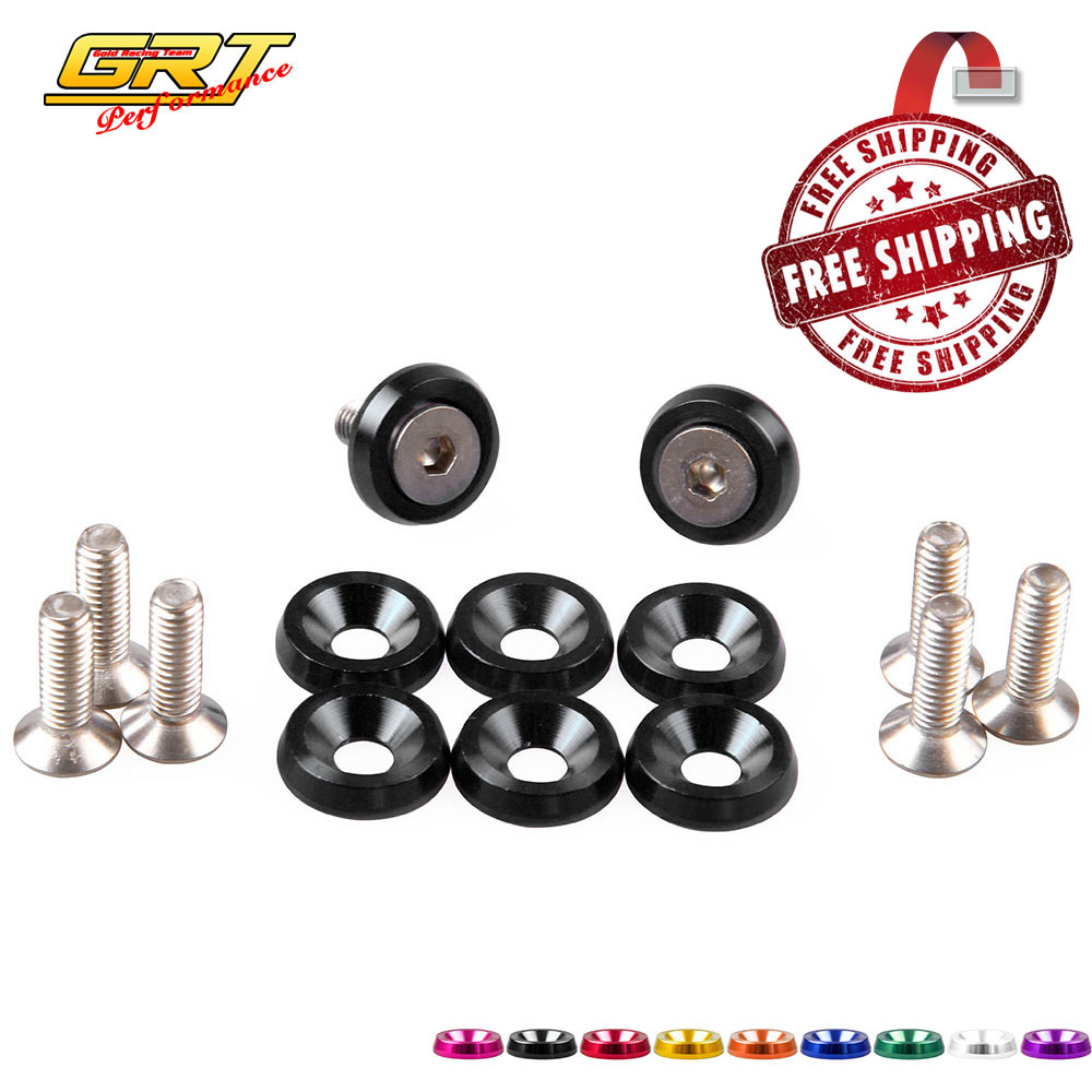 Grt Jdm Style Aluminum Fender Washers 8pcs Washer And Bolts Fit For Honda Civic Integra Rsx Ek Eg Dc N-ea037 Nuts & Bolts