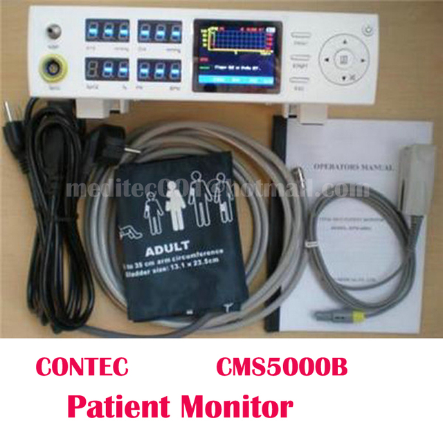 CONTEC CMS5000B Tabletop Pulse Oximeter BP Blood Oxygen Monitor Vital Signs Patient Monitor