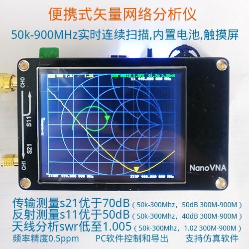 NanoVNA Vector Network Analyzer Antenna Analyzer Shortwave MF HF VHF UHF GeniusNanoVNA Vector Network Analyzer Antenna Analyzer Shortwave MF HF VHF UHF Genius