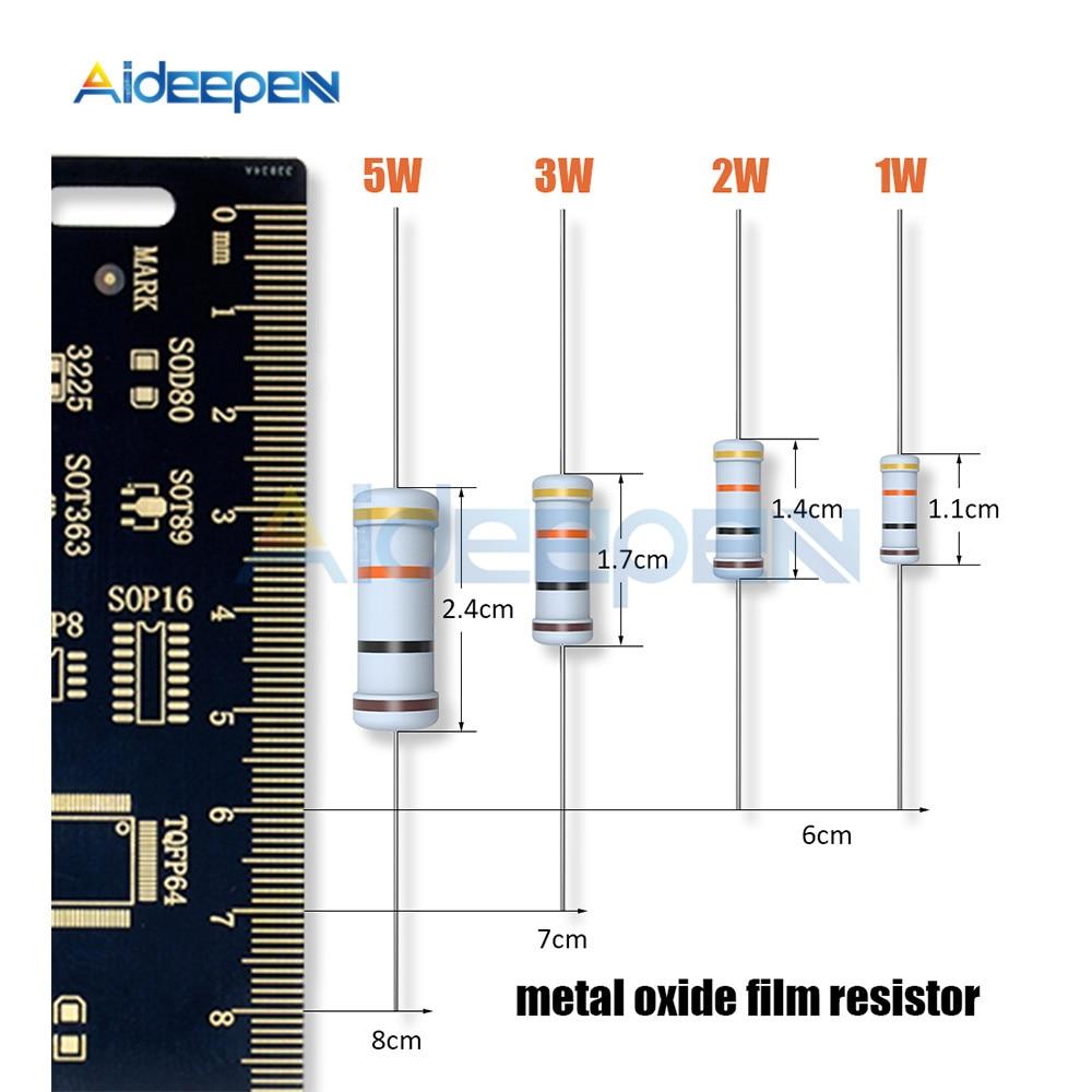 10PCS 1.8K OHM 5W Metal Oxide Film Resistor 5 Watts.