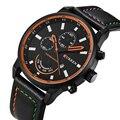 Mens relógios top marca de luxo de quartzo-relógio dos homens rodada analog watch com data de exibição masculino militar esportes relógio de pulso curren 8217