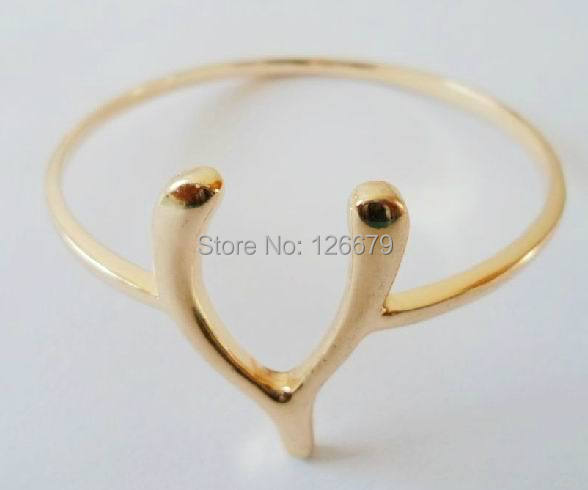 2019 New Arrival Fashion Simple Gold Alloy Lucky Wishbone Bangle Bracelet Charm Arm Bangle Hand Jewelry Accessary for women bangle