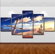 Canvas Painting Wall Art Framework 5 Pieces Original Sword And Anime Character Modular Pictures Home Decorative HD Prints Poster