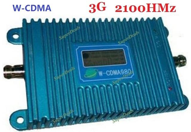 Display LCD!!! 2G 3G repetidor de Sinal De Reforço WCDMA 3G Amplificador de Sinal Celular Repetidor de Sinal de Telefone 2100 Mhz