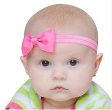 ФОТО new cute colorful mini girls hair bands bow headband elastic flower headband solid color kids hair accessories for girls