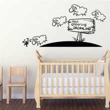 Plane Sticker guideboard  dreamland Stickers For Kids Rooms Living Room Bedroom Background Wall Art Decal