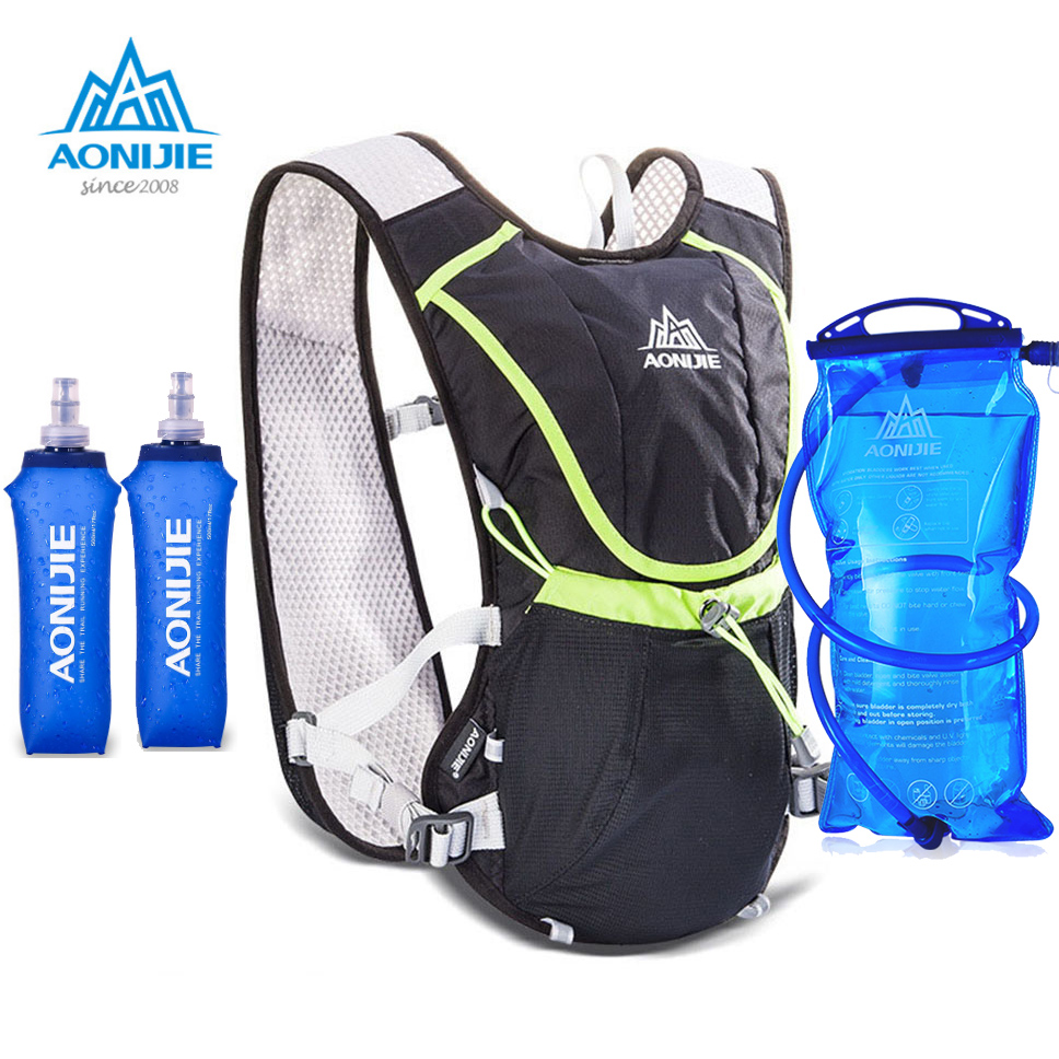 AONIJIE 8L Outdoor Sport Running Backpack Marathon Trail Running Hydration Vest Pack for 1.5L Water Bag Cycling Running Bag