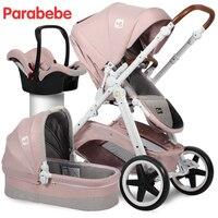 ЕС Стандартный Детские коляски 3 в 1 люлька автокресло и коляска для 0 3 лет Европейский коляски Роскошные детские автомобильные перевозки