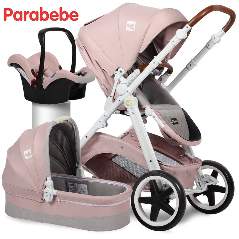 EU Standard Baby Stroller 3 In 1 Carrycot Car Seat And Pushchair For 0 Years Old European Luxury Carriage