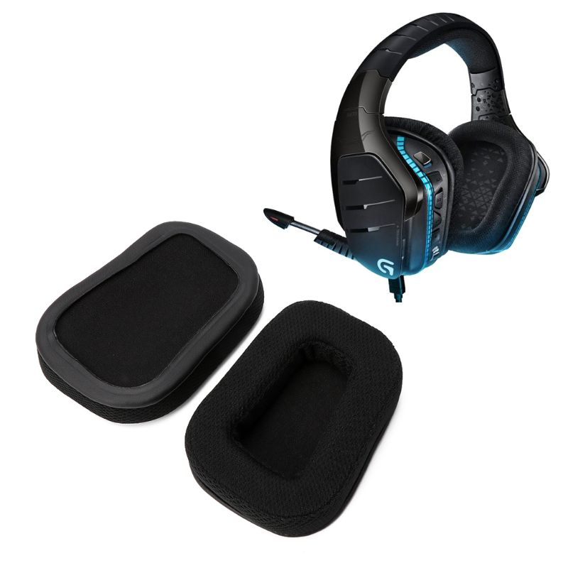 Wholesale dropshipping Replacement Earpads Earmuff For Logitech G933 G633 Surround Gaming Headphones F42D image