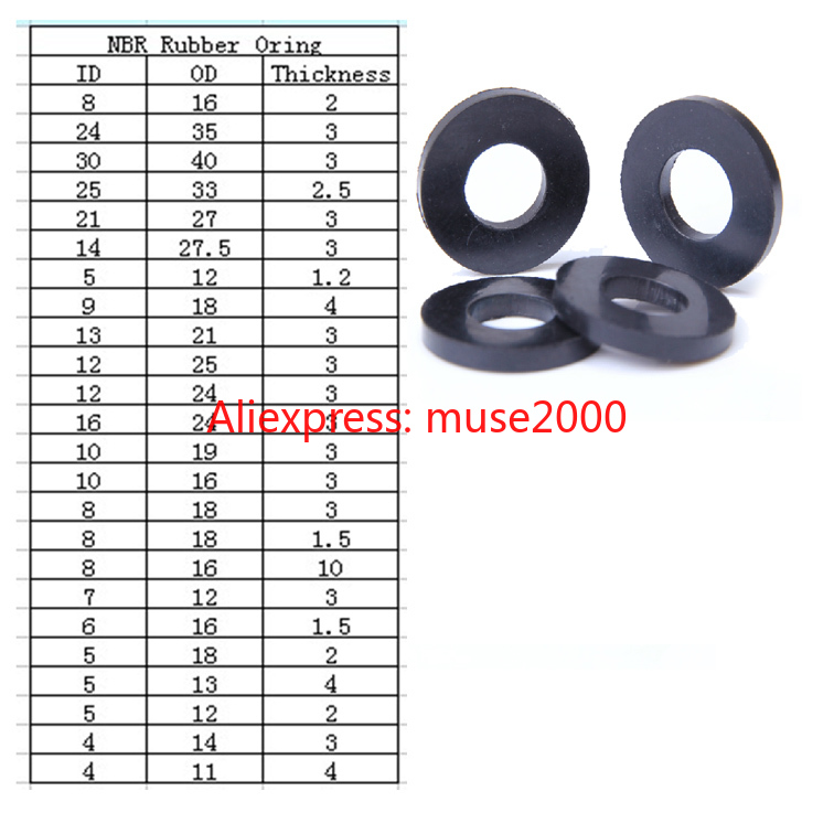 Confezione 5 Guarnizione ORING materiale NBR D interno 56,87 mm x 1,78 mm