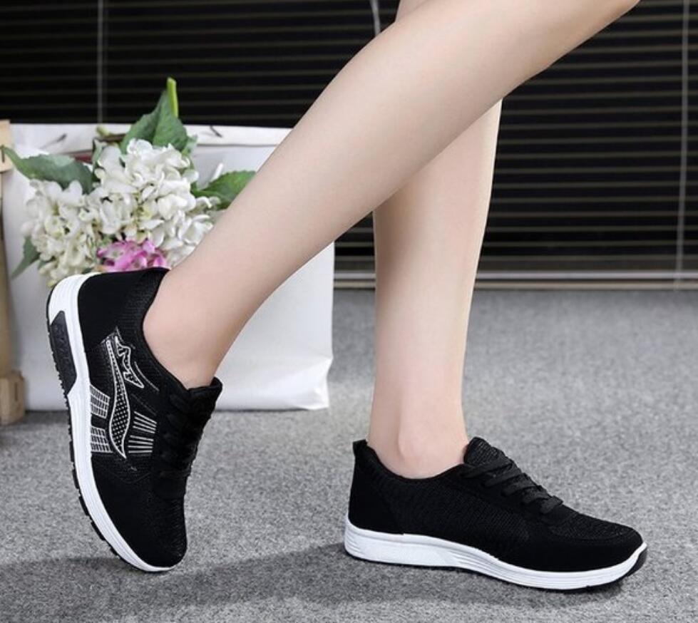 019 Luxe Printemps En Chaussures Été Plates Designer Femmes Black black Plein Femme Espadrilles Pink De Air grey Sport Pour Respirant AFrAqw7
