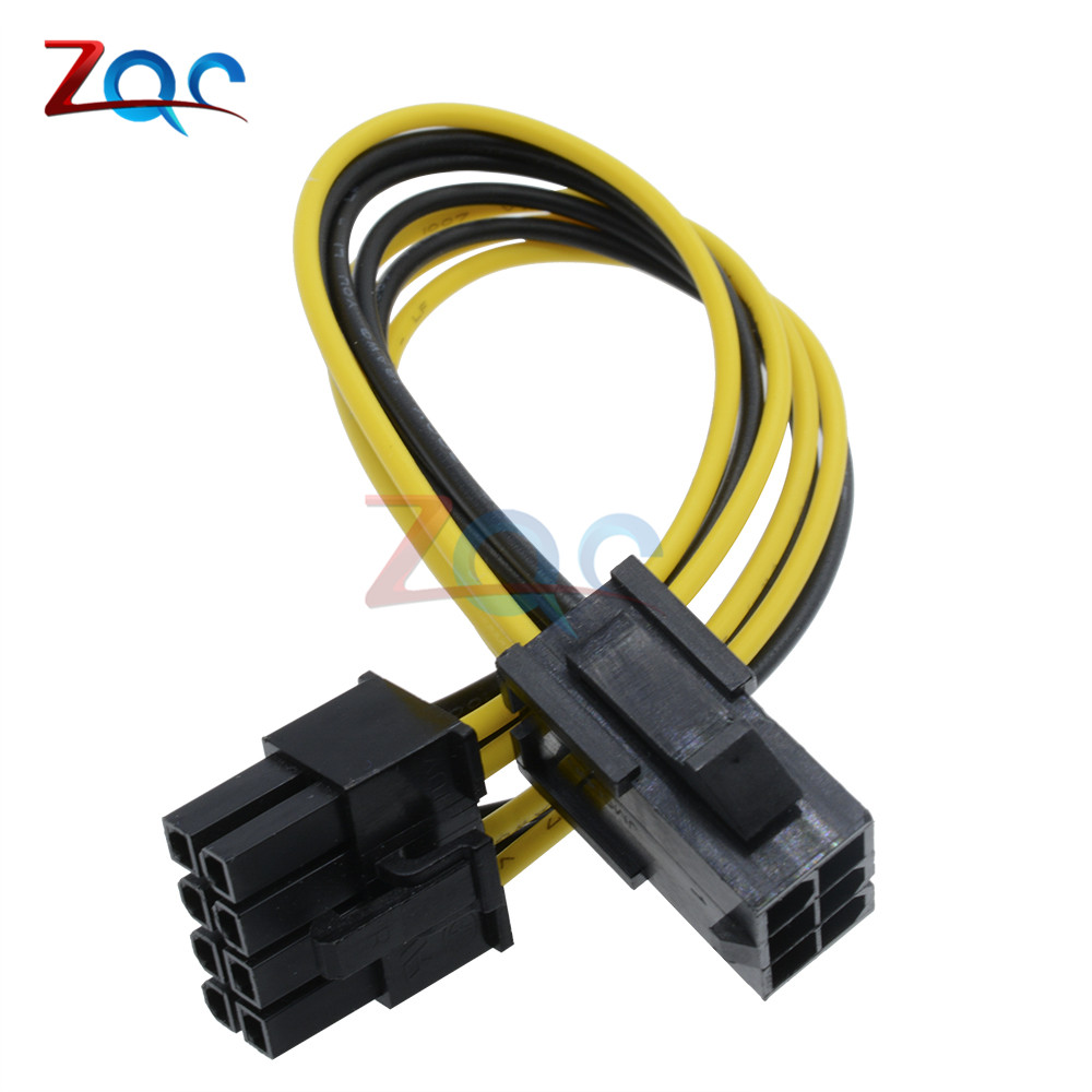 1PC 6 Pin Feamle to 8 Pin Male PCI Express Power Converter Cable CPU Video Graphics Card 6Pin to 8Pin PCIE Power Cable Connector