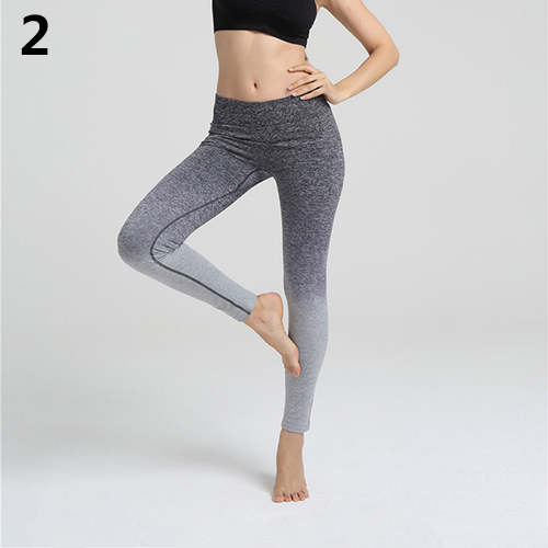 Womens Fitness Stretch Cropped Pants Seamless Leggings