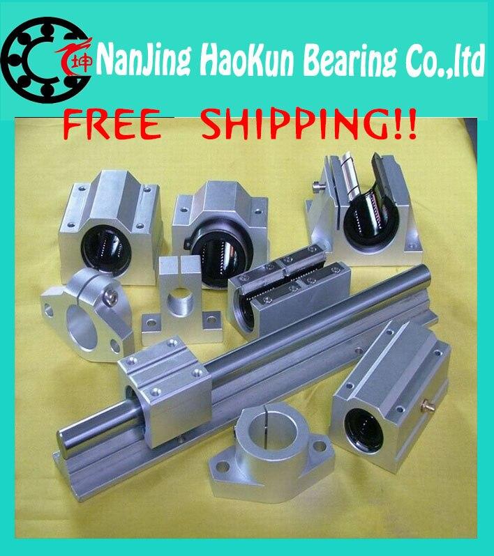Free Shipping 2pcs/lot SBR10 200mm 10mm Linear Rail nanjingAXK parts SBR10*200mm linear guide 1pc sbr10 l300mm linear guide 2pcs sbr10 linear bearing block