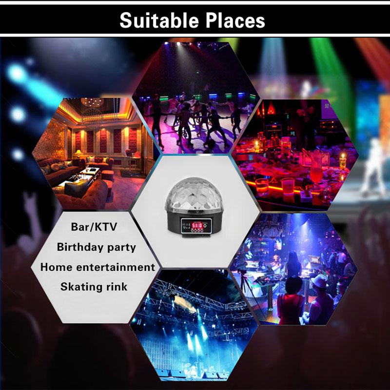 Lampe de scène Led Disco Light Laser 9 Couleurs 21 Modes DMX DJ - Éclairage commercial - Photo 6