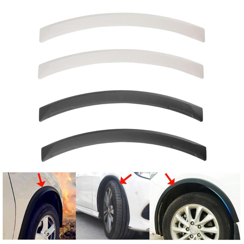 VODOOL 2Pcs Universal Arch Car Wheel Eyebrow Fender Flares Auto Car Mudguard Anti-scratch Protector Strips Car Mud Guard Styling
