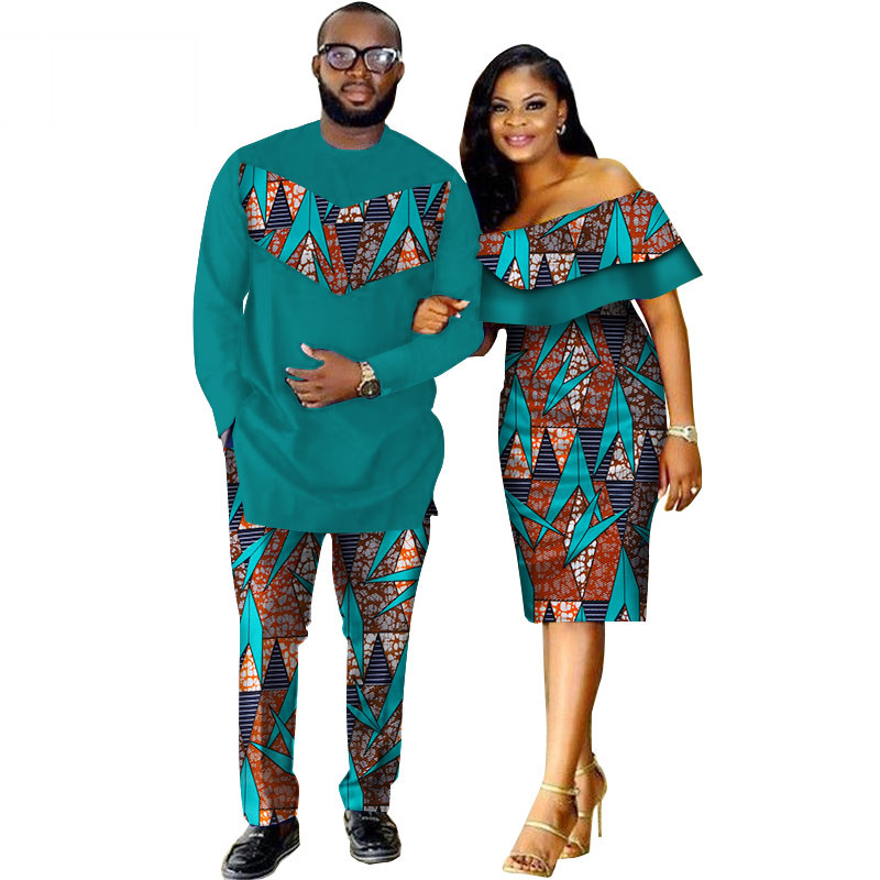 African-Dashiki-Print-Couple-Clothing-for-Lovers-Two-Piece-Set-Men-s-Suit-Plus-Women-s(16)