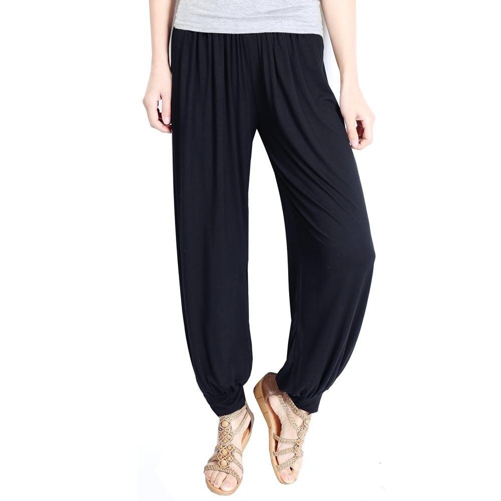 Hoffen 2017 Dámské kalhoty Harem Vintage Elastický pas Pevné kalhoty pro ženy Volné Neformální Kalhotové kalhoty Žena WS182
