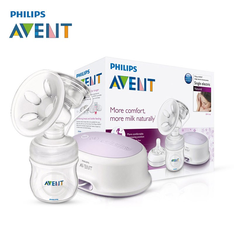 AVENT Natural Comfort Single Electric Breast Pump Silicone/Polypropylene BPA Free+4oz Natural Bottle Breast Pumps For 0-6m Baby breast light detection device for the breast cancer self check up and breast clinical examination