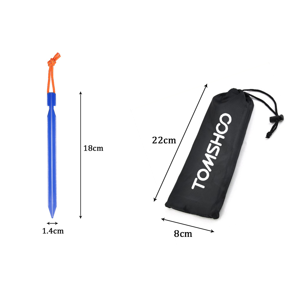 """Image 5 - TOMSHOO 10pcs/lot 18CM/7"""" V shape Tent Peg Camping Tent Stake with Reflective Rope Outdoor Traveling Tent Building Accessories-in Tent Accessories from Sports & Entertainment"""